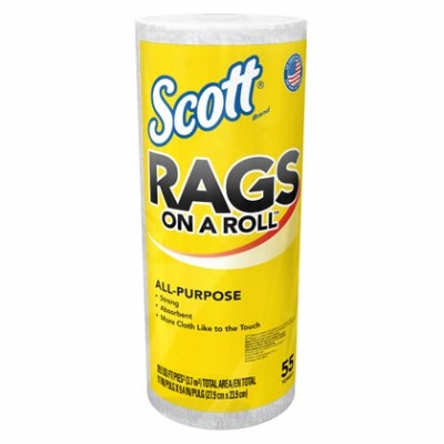 Image of 55-Count Scott Rags White Paper Towels