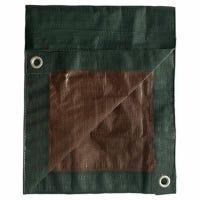 Polyethylene Tarp, Hunter Green/Brown, 6 x 8-Ft.