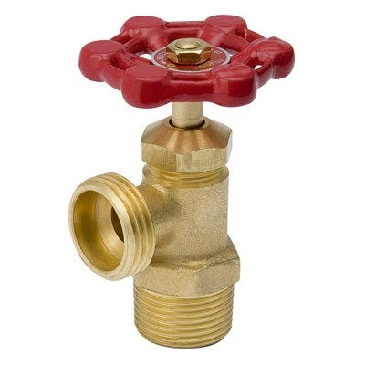 Boiler Drain, Threaded, 0.75-In.-Male, 0.5-In.-Female