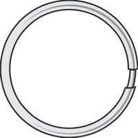 Split Key Ring, 1-1/2-In., 50-Pk.