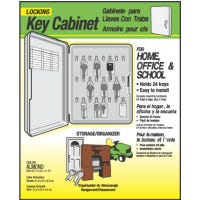 Key Cabinet, Lockable, Holds 24 Keys, Plastic