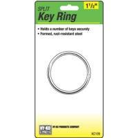 Split Key Ring, Brass-Plated, 1-1/2-In.