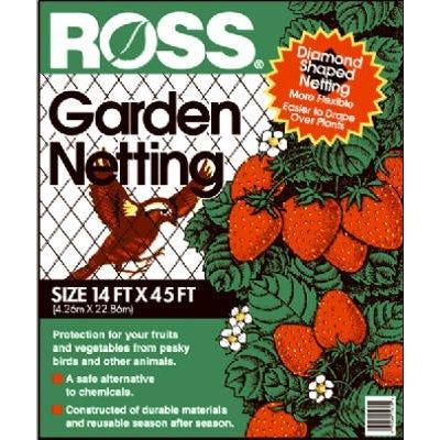 Garden Netting, 3/4-In. Diamond/Black Mesh, 14 x 45-Ft.