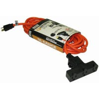 25-Ft. Outdoor Orange Extension Cord