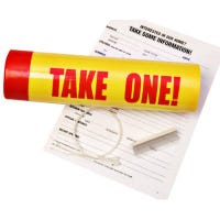 """Sign Tube, """"Take One"""", 3 x 12-In."""