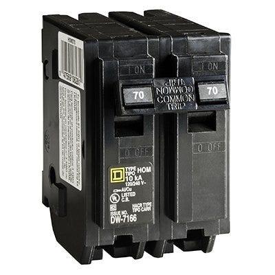 Homeline 70-Amp Double-Pole Circuit Breaker