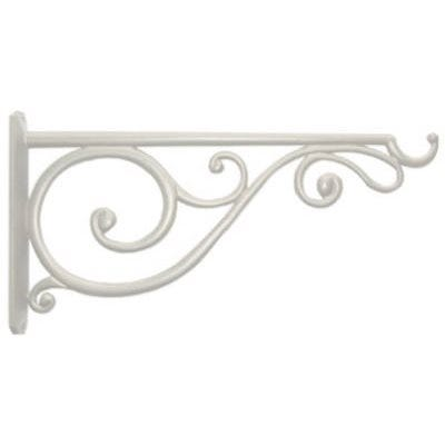 14-In. White Victorian Scroll Hanging Plant Bracket
