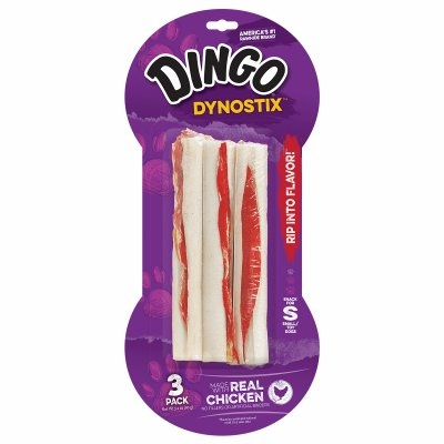 Image of Dyno Stix Meat & Rawhide Dog Chews, 3-Pk.