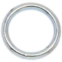 Welded Ring, Nickel Finish, 1-1/4-In.