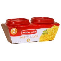 Easy-Find Lid Food Storage Containers, 0.5-Cup, 2-Pk.