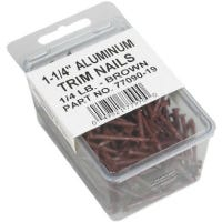 Trim Nails, Brown, 1-1/2-In., 1/4-Lb.