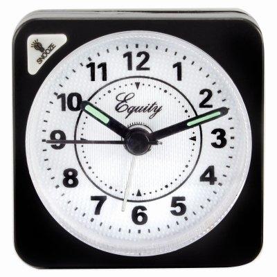 Image of Travel Alarm Clock, Quartz Movement, Black