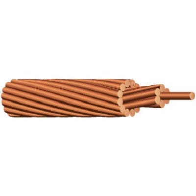 Stranded Bare Grounding Wire, Copper, 6 Gauge, 315-Ft.