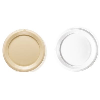 Image of 2-Pack Rotary Dimmer Replacement Knobs, White & Ivory