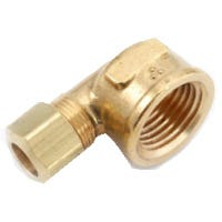 Brass Compression Elbow, Lead-Free, 3/8 x 3/8-In. FPT
