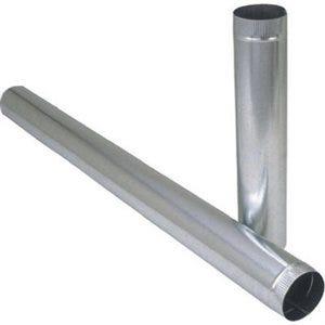 Galvanized Furnace Pipe, Round, 30 Gauge, 7 x 24-In.