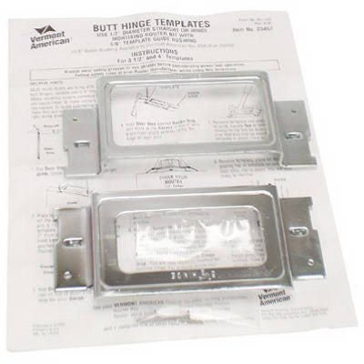 Wood Crafters Hinge Mortising Template Set