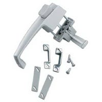 Screen & Storm Door Latch, Out-Swinging, Push-Button, Aluminum