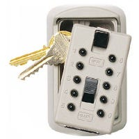 Lock Box Key Safe, White
