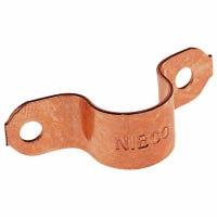 Pipe Fitting, Copper Tube Strap, 1/2-In., 5-Pk.