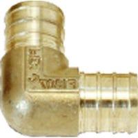 Brass Barb PEX Insert Elbow, Lead-Free, 3/4-In., 25-Pk.