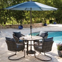 Adelaide Cushioned Steel Patio Dining Set