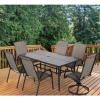 Campton Hills Sling Chair Steel Patio Dining Set