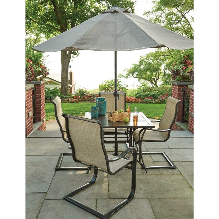 Chesapeake Sling Chair Aluminum Patio Dining Set