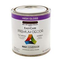 Premium Decor Leather Brown Gloss Enamel Paint, 1/2-Pt.
