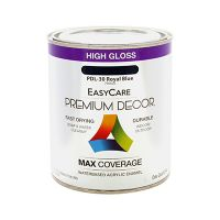 Premium Decor Royal Blue Gloss Enamel Paint, Qt.