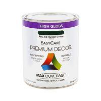 Premium Decor Hunter Green Gloss Enamel Paint, Qt.