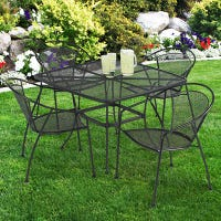 Uptown 5-Pc. Wrought-Iron Look Steel Patio Dining Set