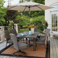 Nantucket Wicker & Steel Patio Dining Set