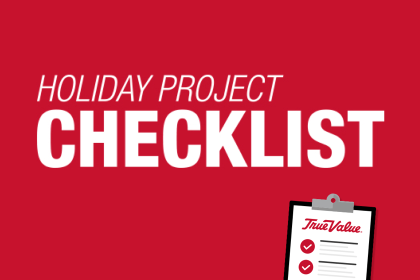 Holiday project checklist