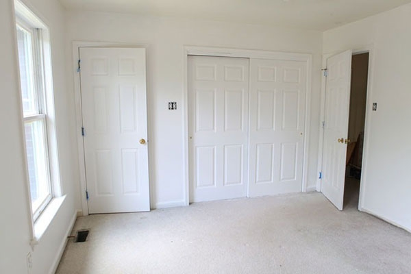room with white walls and trim