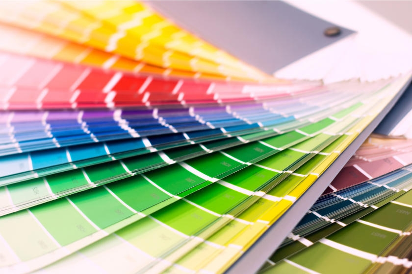 Paint swatches for selecting color palette