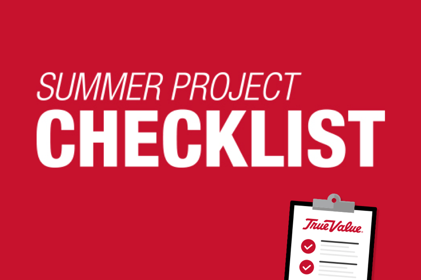 Summer project checklist