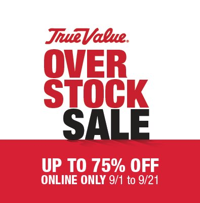 Online only Overstock Sale 75% off